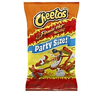 CHEETOS Snacks Cheese Flavored Crunchy Flamin Hot Party Size - 15 Oz