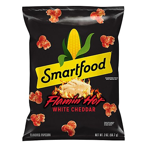 Smartfood Flamin Hot Popcorn White Cheddar - 2 Oz