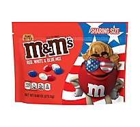 M&Ms Candies Chocolate Red White & Blue Mix Patriotic Peanut Butter Sharing Size - 9.6 Oz