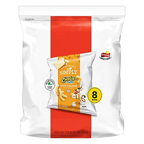 Cheetos Simply Snacks White Cheddar Puffs - 7 Oz