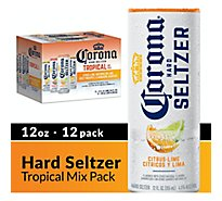 Corona Hard Seltzer Sparkling Water Gluten Free Spiked Variety Pack 4.5% ABV Cans - 12-12 Fl. Oz.