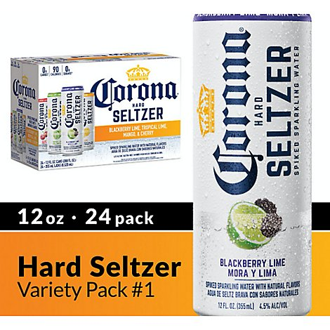 Corona Hard Seltzer Spiked Sparkling Water 4.5% ABV Variety Pack In Cans - 24-12 Fl. Oz.