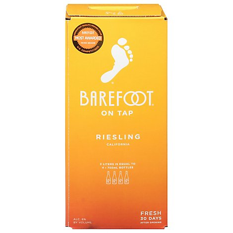 Barefoot On Tap White Wine Riesling Box - 3 Liter