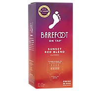 Barefoot On Tap Sunset Red Blend Wine - 3 Liter