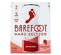 Barefoot Seltzer Hard Wine Based Strawberry & Guava Gluten Free Pack - 4-8.4 Fl. Oz.