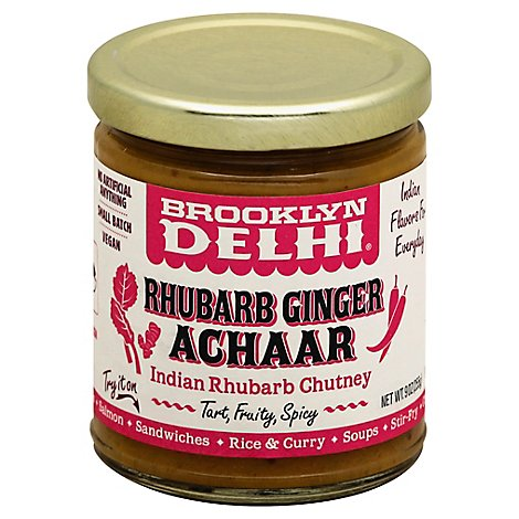 Brooklyn Delhi Achaar Rhubarb Ginger - 9 Oz