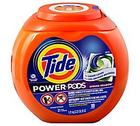 Tide Power PODS Liquid Laundry Detergent Pacs Hygienic Clean Spring Meadow - 21 Count