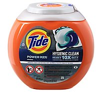 Tide Power Pods Laundry Detergent Liquid Pacs Heavy 10x Duty For Impossible Stains - 21 Count