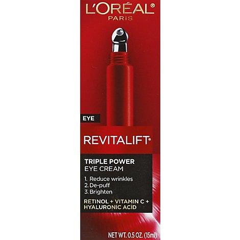 Loreal Revitalift Triple Power Eye Treatment - .5 Fl. Oz.