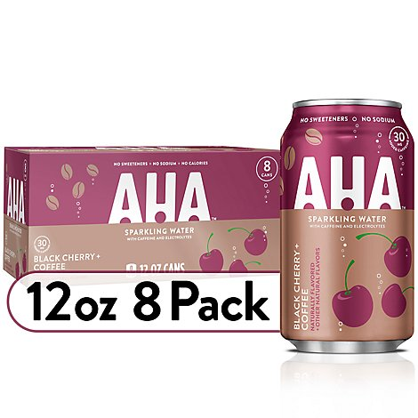 AHA Sparkling Water Black Cherry Coffee - 8-12 Fl. Oz.