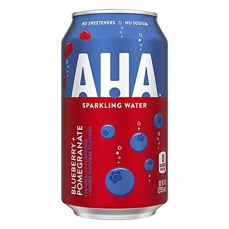 AHA Sparkling Water Blueberry Pomegranate - 8-12 Fl. Oz.