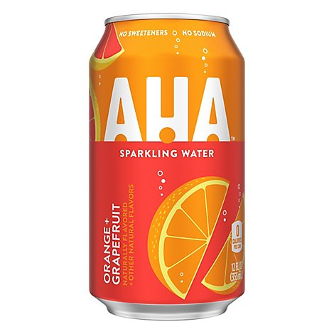 AHA Sparkling Water Orange Grapefruit - 8-12 Fl. Oz.