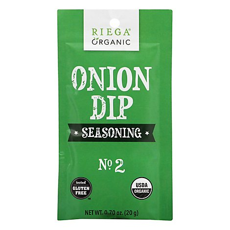 Riega Seasoning Onion Dip Org - 0.7 Oz