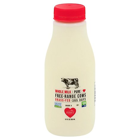 Hart Dairy Milk Whole Grass Fed Free Range - 12 Fl. Oz.