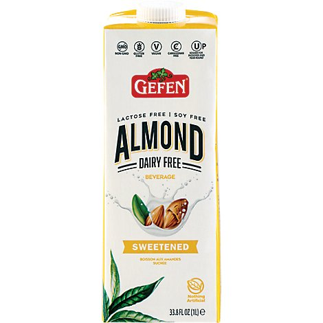 Gefen Almond Milk Sweetened - 33.8 Oz