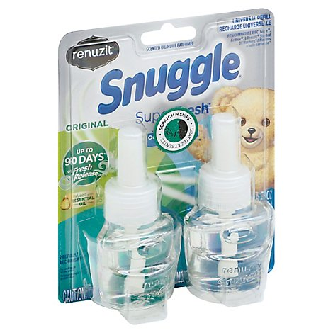 Renuzit Snuggle Scented Oil Plug In Refills Air Fresheners SuperFresh Original - 2-.67 Fl. Oz.