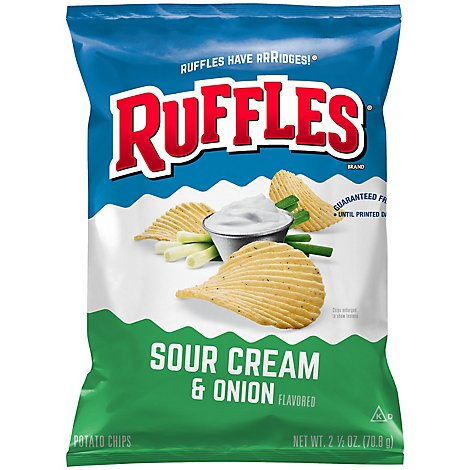 Ruffles Potato Chips Sour Cream And Onion - 2.5 Oz