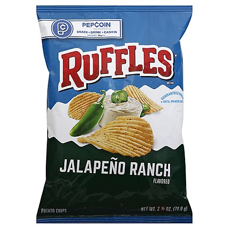 Ruffles Potato Chips Jalapeno Ranch - 2.5 Oz