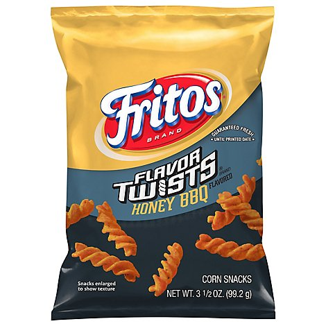 Fritos Twists Corn Chips Honey Bbq - 3.5 Oz