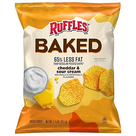 Ruffles Baked Potato Chips Cheddar & Sour Cream Flavored 1 - 1.875 Oz
