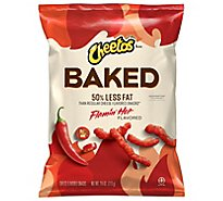 Cheetos Baked Flamin Hot Cheese Flavored Snacks Plastic Bag - 2.75 Oz