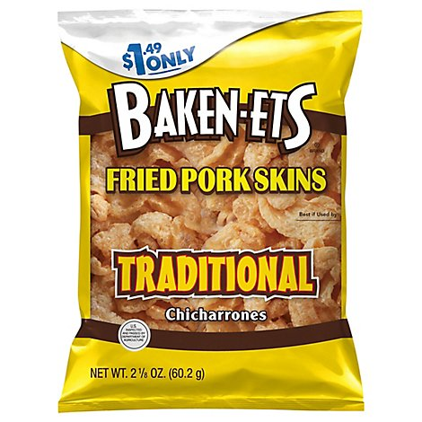 Baken-Ets Fried Pork Skins Regular - 2.125 Oz