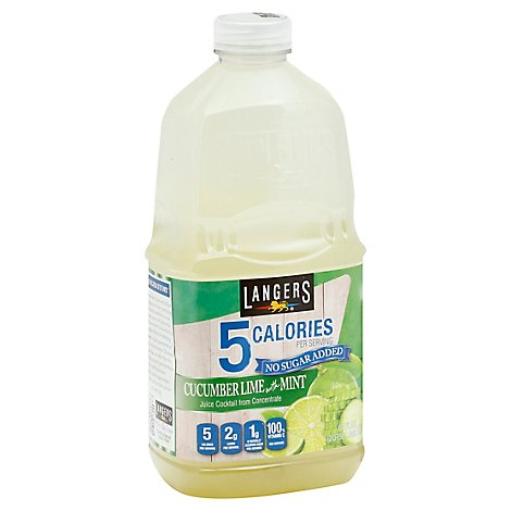 Langers Juice 5 Cal Cucumber Lime Mint - 64 Fl. Oz.