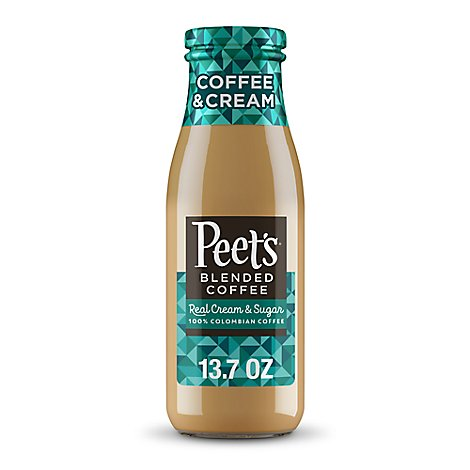 Peets Coffee And Tea Peets Blended Coffee Coffee Plus Cream - 13.7 Fl. Oz.