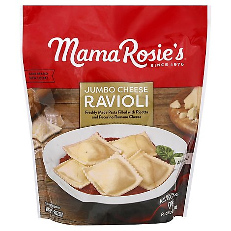 Mama Rosies Ravioli Large Squares Cheese - 25 Oz