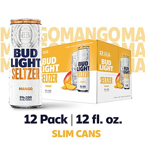 Bud Light Seltzer Mango In Cans - 12-12 Fl. Oz.