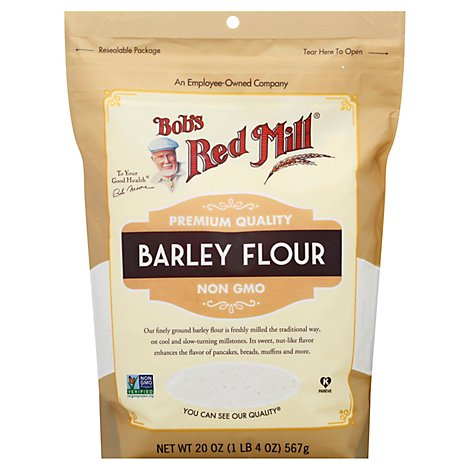 Bobs Red Mill Flour Barley Non GMO - 20 Oz