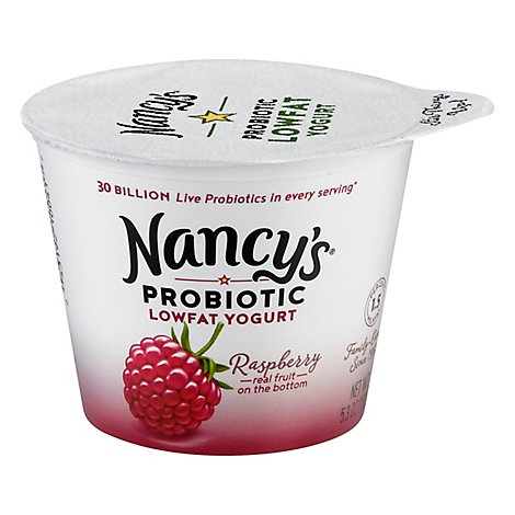 Nancys Probiotic Lowfat Yogurt- Raspberry - 6 Oz
