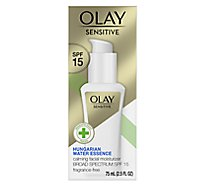 Olay Sensitive Moisturizer Facial Calming SPF 15 Fragrance Free - 2.5 Fl. Oz.