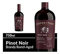 Cooper & Thief Wine Red Pinot Noir Brandy Barrel Aged - 750 Ml