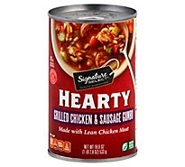 Signature Select Soup Hearty Chicken Sausage Gumbo - 18.8 Oz