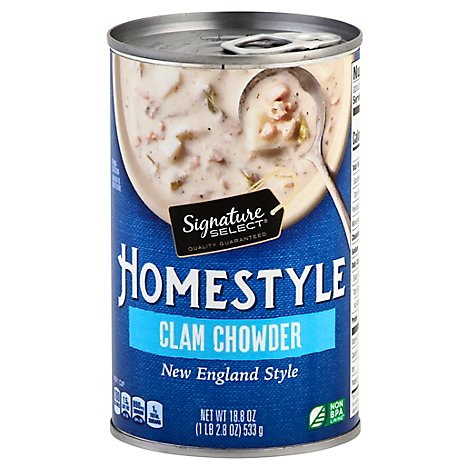 Signature Select Soup Homestyle Clam Chowder - 18.8 Oz