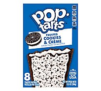 Pop-Tarts Toaster Pastries Frosted Cookies N Creme 8 Count - 13.5 Oz