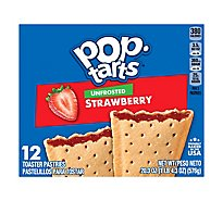 Pop-Tarts Toaster Pastries Unfrosted Strawberry 12 Count - 20.3 Oz