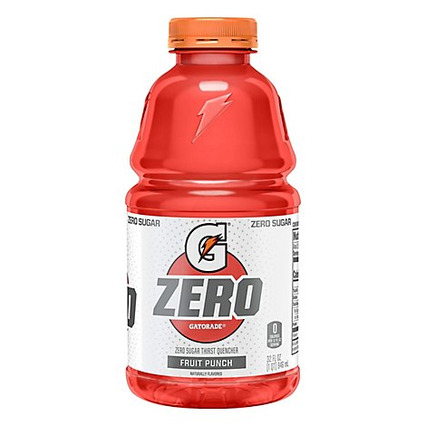 Gatorade G Zero Thirst Quencher Zero Sugar Fruit Punch - 32 Fl. Oz.