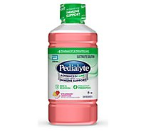 Pedialyte AdvancedCare Electrolyte Solution Strawberry Lemonade 1.1 Quart - 1 Liter