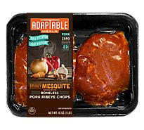 Adaptable Smokey Mesquite Pork Ribeye Chop - 16 Oz