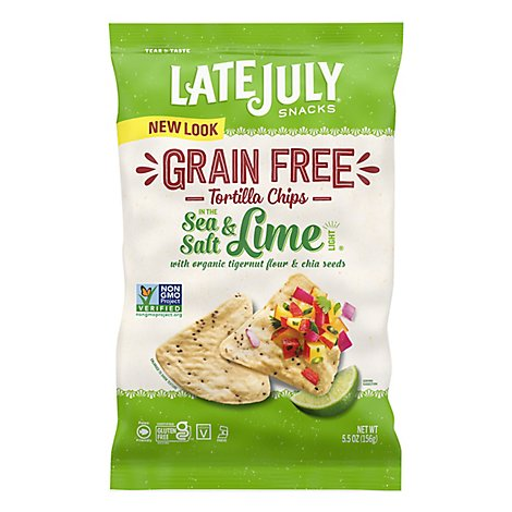 Late July No Grain Sea Salt Lime Chips - 5.5 Oz