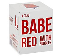 Babe Red With Bubbles Wine - 4-250 Ml