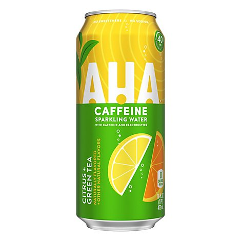 AHA Sparkling Water Citrus Green Tea - 16 Oz