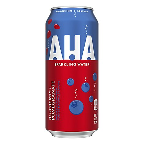 AHA Sparkling Water Blueberry Pomegranate - 16 Fl. Oz.