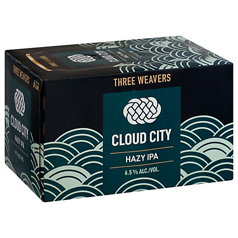 Three Weavers Cloud City Hazy Ipa In Cans - 6-12 Fl. Oz.