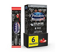 Pedialyte AdvancedCare Plus Electrolyte Powder Strawberry Freeze - 6-0.6 Oz
