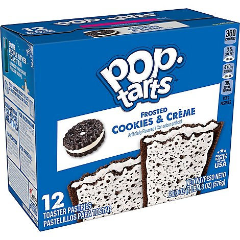 Pop-Tarts Breakfast Toaster Pastries Cookies and Crme - 20.3 Oz