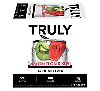 Truly Hard Seltzer Spiked & Sparkling Water Watermelon Kiwi 5% ABV Slim Cans - 6-12 Fl. Oz.
