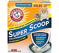 Arm & Hammer Super Scoop Clumping Cat Litter Ff - 40 Lb